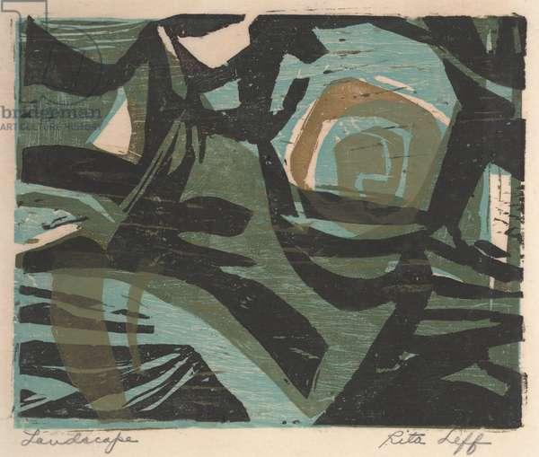 Landscape (colour woodcut)