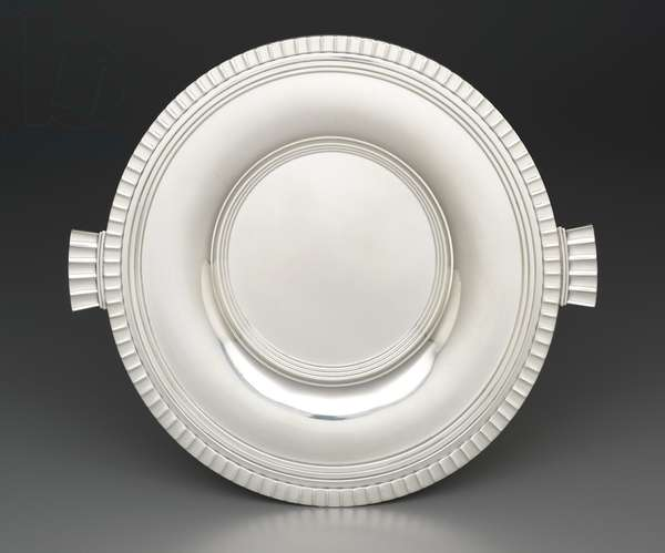 """Evening Sea"" luncheon tray, designed 1928 (silver)"