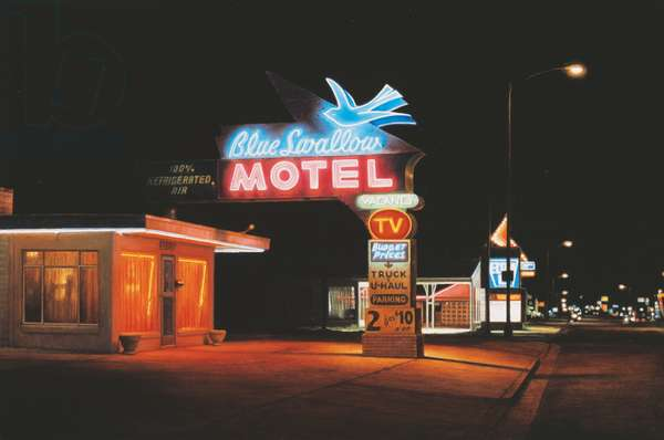 Route 66, 1997 (oil on wood)