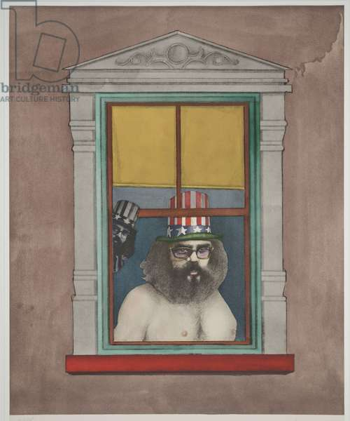 Poet, 1971 (colour litho)