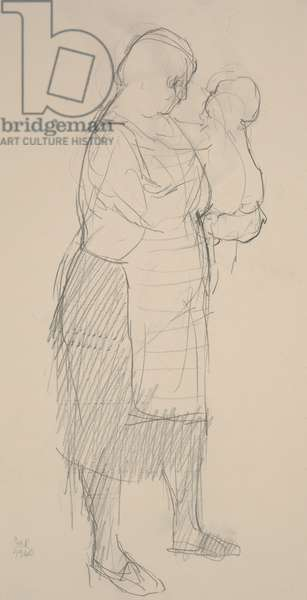 Cara Rina, 1960 (pencil on paper)