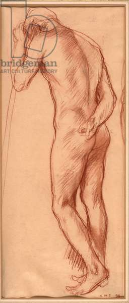 Male nude, 1894 (chalk on paper)