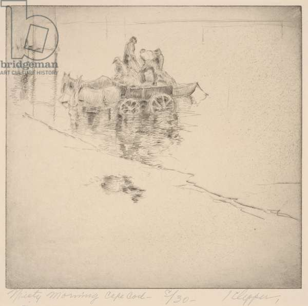 Misty Morning, Cape Cod (etching)