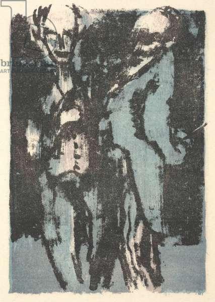 Old Men, 1926 (colour litho)