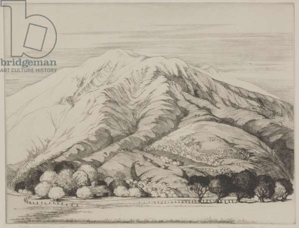 Mother Mountain, 1934 (etching)