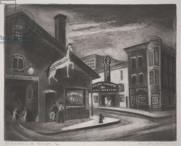 Old Muscatine on the Mississippi, c.1942 (intaglio)