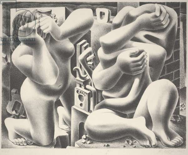 There is Fear, 1947 (litho)