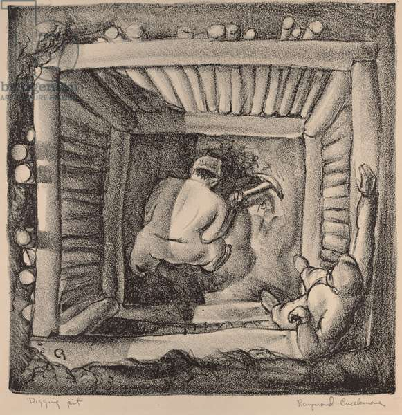 Digging Pit, c.1933-34 (lithograph)