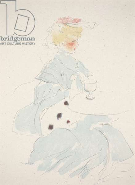 Woman at a Café, 1907 (colour litho)