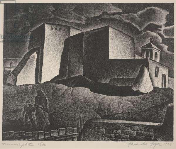 Moonlight, 1934 (lithograph)
