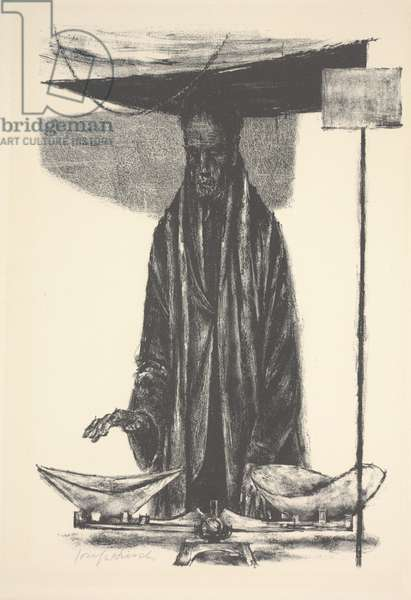 Man with Scales, 1956 (litho)