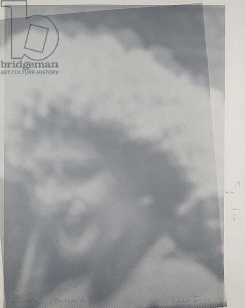 Elizabeth II, 1966 (offset litho on moiré paper & white cardboard)