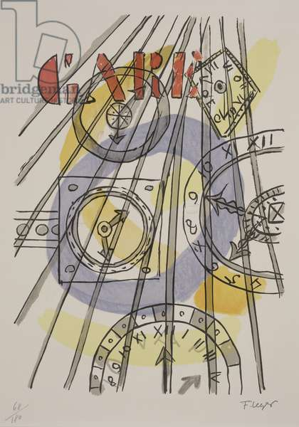 Clocks (color lithograph)