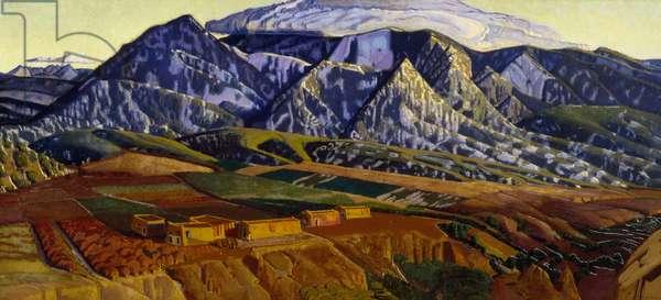 Mountains Near Taos, 1926-1934 (oil on canvas)