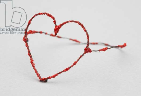 Heart ring, c.2004 (enameled wire)