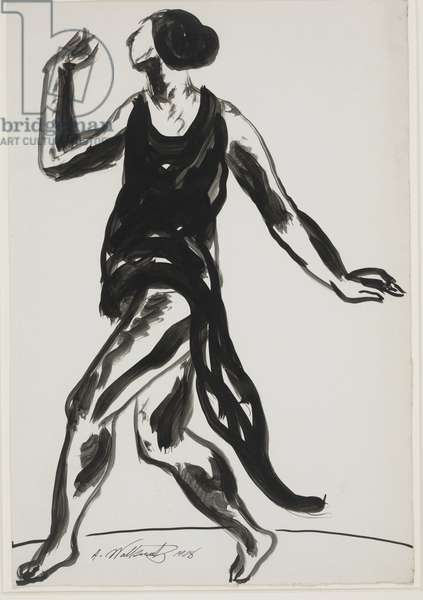 Isadora Duncan Dancing, 1908 (ink on paper)