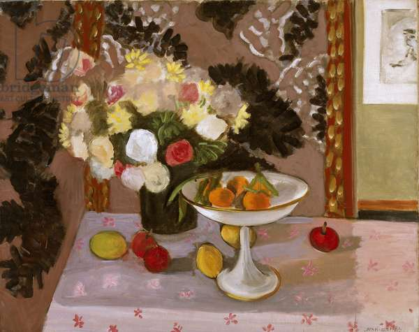 Still Life: Bouquet and Compotier, 1924 (oil on canvas)