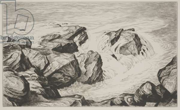 Surf, 1937 (drypoint)
