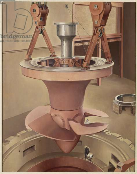 Suspended Power, 1939 (oil on canvas)