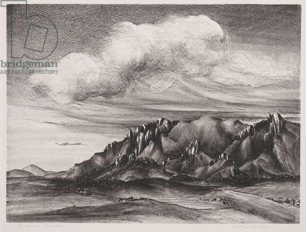 Cheyenne Mountains (litho)