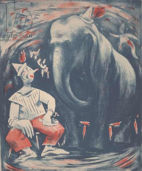 Circus, c.1933-1934 (color lithograph)