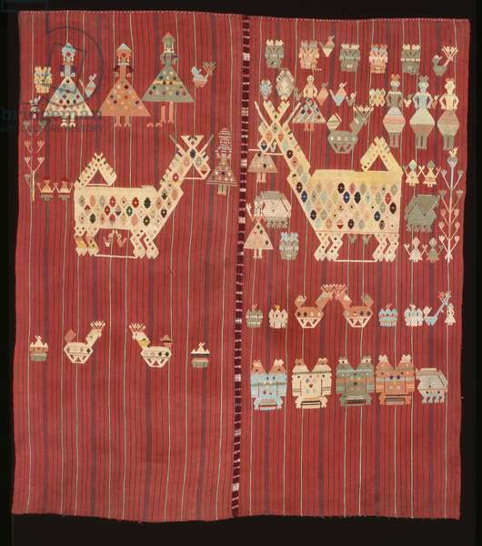 Woman's headcloth or carrying cloth (su't), c.1935-1945 (cotton, silk & wool)