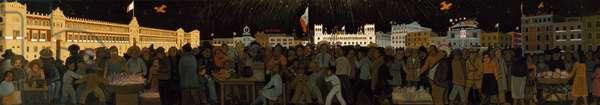 The Zócalo, c.1929-36 (tempera on paper)