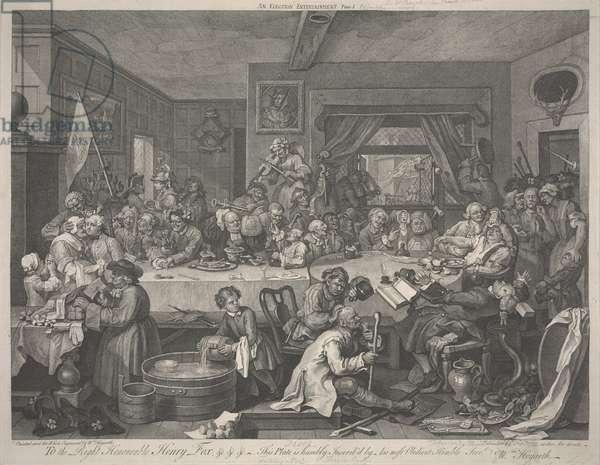 An Election Entertainment, 1755 (engraving)
