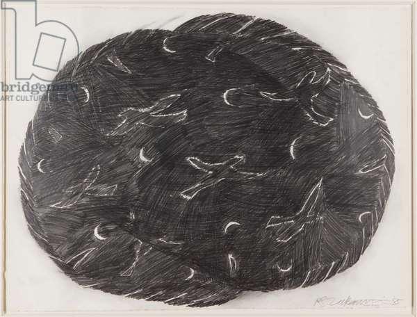 Moonbirds, 1985 (graphite on paper)