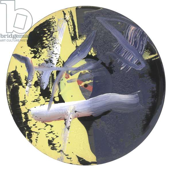 Goldberg Variations, 1984 (phonograph record (lp) painted on one side with oil paints)
