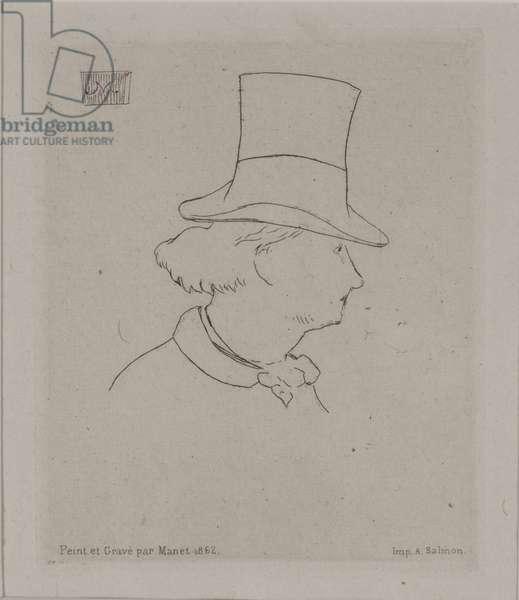 Portrait of Baudelaire, 1862 (etching)