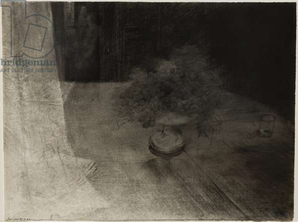 The Long Conversation, 1988 (charcoal & conté crayon on paper)