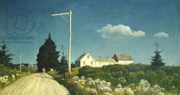 Road to the Jones House, 1940 (egg tempera on composition board)