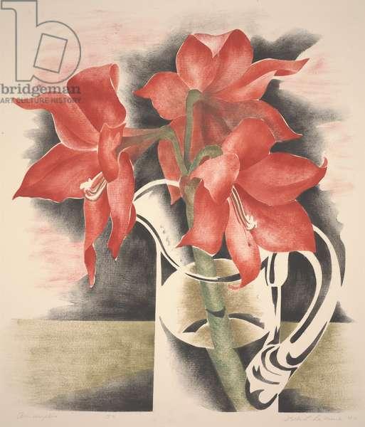 Amaryllis, 1944 (stencil print)