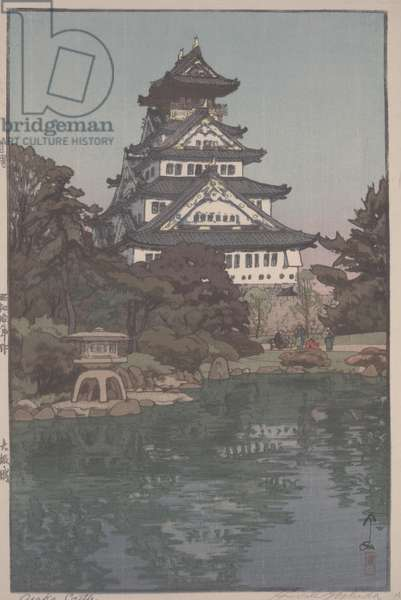 Osaka Castle, 1935 (polychrome woodblock print)