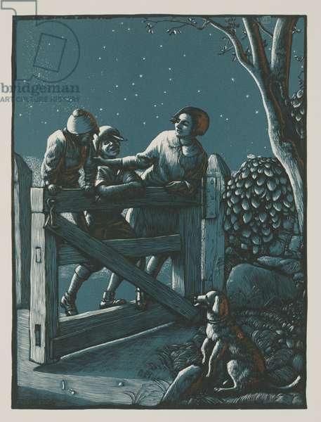 Swinging the Gate, 1936 (woodcut)