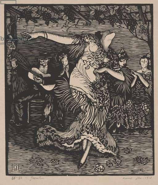 Spanish Dance (Garrotín), 1913 (woodcut)