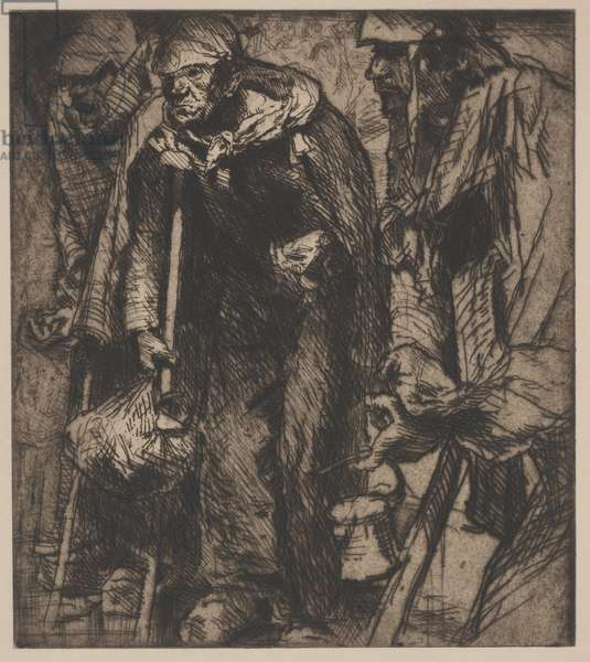 Beggars, no. 4, 1907 (etching)