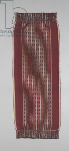 Woman's ceremonial shoulder cloth (ulos), late 19th or early 20th century (cotton)