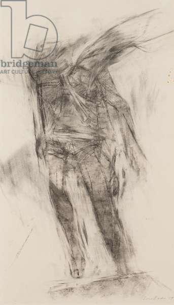 Parachutist, 1959 (charcoal on paper)