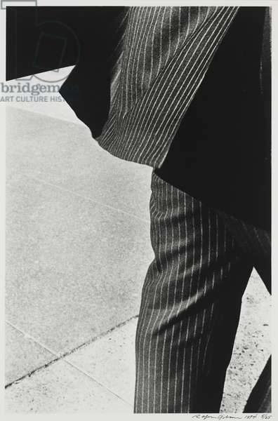 Man in a Striped Suit, 1974 (gelatin silver print)