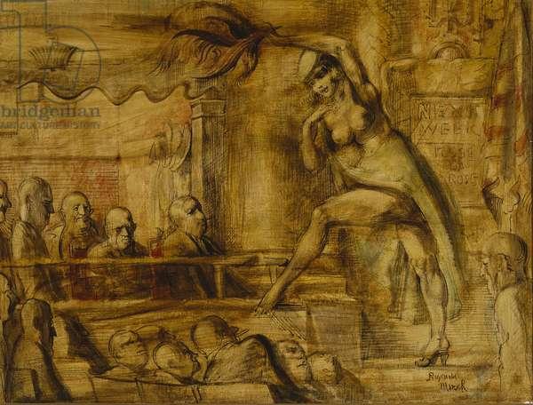 Striptease, 1953 (tempera on panel)