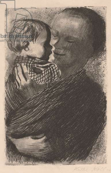 Mother with Child in Her Arms, 1910 (etching)