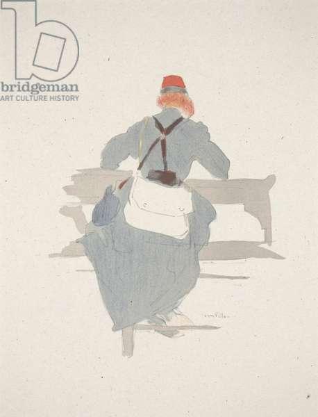 Soldier, 1907 (colour litho)