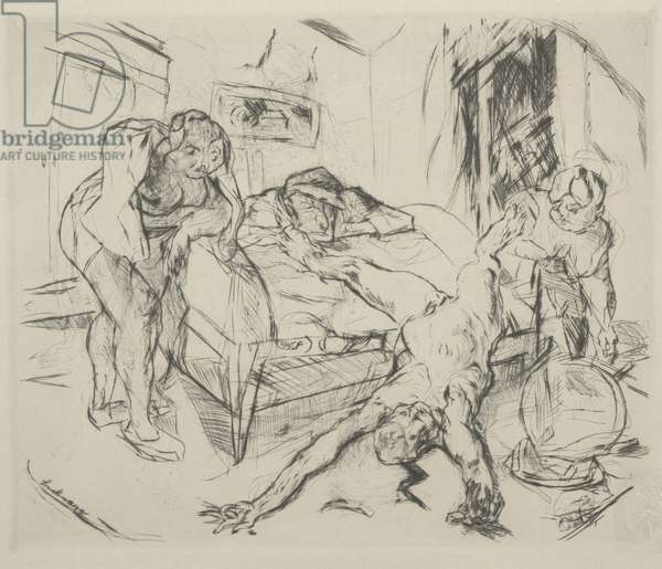 Murder (Mord), 1918 (etching)