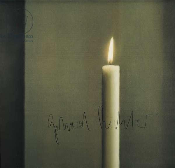 Candle I (Kerze I), 1988 (offset colour litho on white paper)