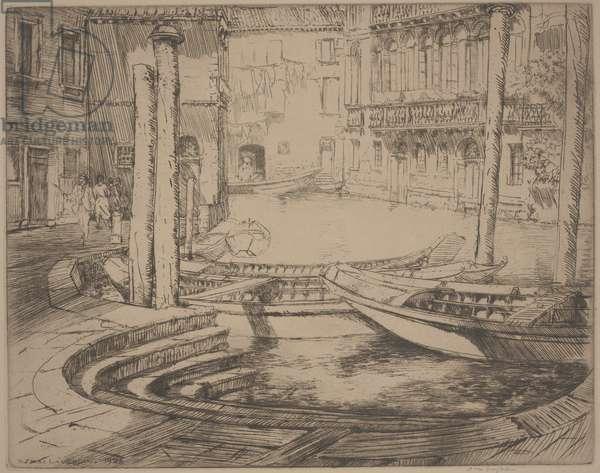 Palios, Venice, 1926 (etching)