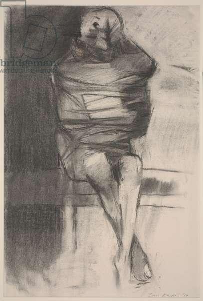 Strait Jacket, 1959 (charcoal on paper)
