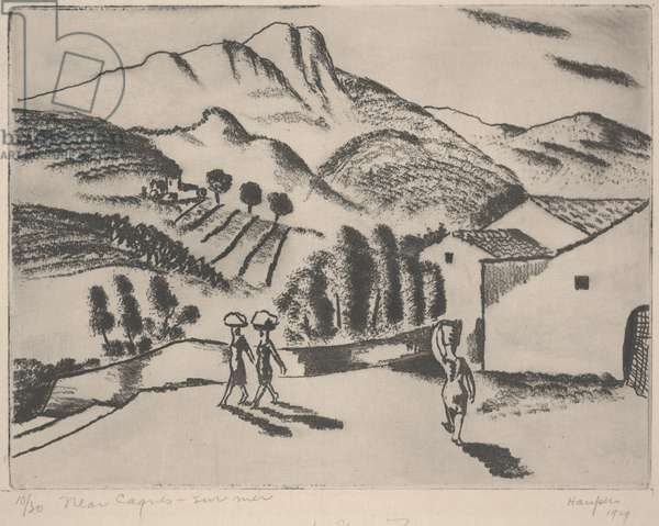 Near Cagnes Sur Mer, 1929 (soft-ground etching)