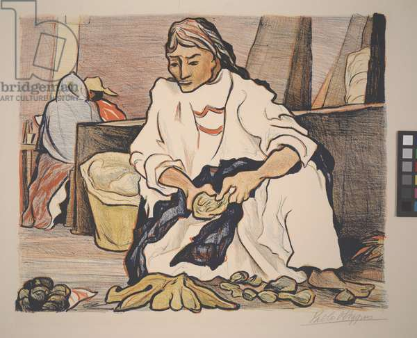 The Market, 1946 (colour litho)